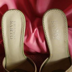 Franco Sarto Shoes - Franco Sarto leather slip on heels